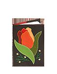 Кожаная обложка  на паспорт №1, Тюльпан