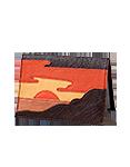 Кожаная обложка  на паспорт №1, Закат