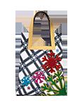 кожаная сумка Снежинки, м.№18