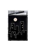 Кожаная обложка  на паспорт №1 черная, Ночной город