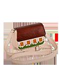 Кожаная сумка №28 кремовая
