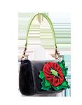 женская кожаная сумка чёрная №29, Крошка-мак