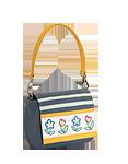 Кожаная сумка №29, Крошки-цветочки