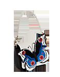 Кожаная  сумка №29, Бабочка