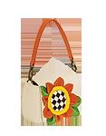 Кожаная сумка №29, Крошка-подсолнух