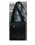 Кожаная мужская сумка чёрная №20, Ночной город