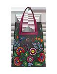 Кожаная сумка №18 темно-серая