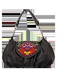 Кожаная сумка №38, Петриковский узор