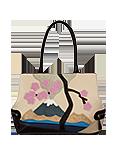 Кожаная женская сумка №5, Фудзияма