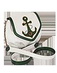 Кожаная женская сумка белая №31, Морячок
