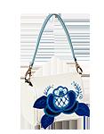 Кожаная сумка №29 Гжель
