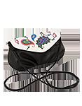 Кожаная женская сумка чёрная №34, Пейсли