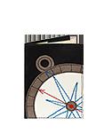 Кожаная обложка  на паспорт №1 черная, Компас