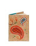 Кожаная обложка  на паспорт №1, Пейсли
