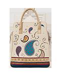 Кожаная сумка №3 кремовая