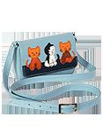 Кожаная сумка №28, Котята