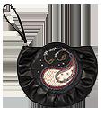 кожаный женский клатч-сумка чёрный №44, Пейсли