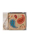 Кожаный женский кошелёк портмоне, ПЕЙСЛИ