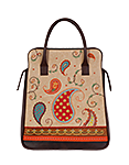 Кожаная женская сумка-портфель коричневая №3, ПЕЙСЛИ