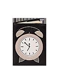 Кожаная обложка  на паспорт №1, БУДИЛЬНИК