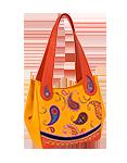 Женская кожаная сумка №33, Пейсли