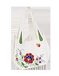 кожаная женская сумка м.33 белая