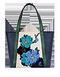 Кожаная женская сумка синяя №42, ИМПЕРАТОРСКАЯ САКУРА
