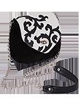 Кожаная женская сумка чёрная №31, Барокко
