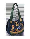 Кожаная женская сумка синяя №33, Пейсли