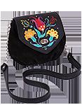 Кожаная женская сумка чёрная № 31, Изник