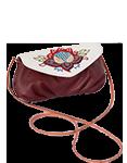Кожаная женская сумка №34, Загадочный цветок