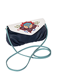 Кожаная женская сумка №34 синяя