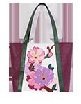 Кожаная женская сумка №42, ИМПЕРАТОРСКАЯ САКУРА