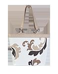 Кожаная женская сумка белая №46, Барокко