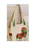 Кожаная женская сумка бежевая №33, Маки