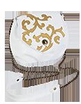 Кожаная женская сумка белая №31, Барокко