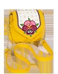 Кожаная женская сумка №31, Анютины глазки