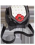 Кожаная женская сумка чёрная №31, Мак