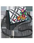 Кожаная женская сумка №48, Лазоревый цветок