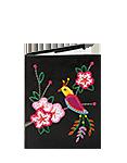 Кожаная обложка  на паспорт №1 черная, Японская птичка