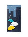 КОЖАНЫЙ КОШЕЛЁК №1 синий, Дождь в городе
