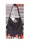 кожаная женская сумка темно-серая м.53