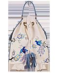 КОЖАНЫЙ ЖЕНСКИЙ РЮКЗАК-сумка кремовый м.49