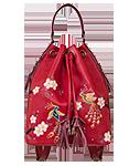 КОЖАНЫЙ ЖЕНСКИЙ РЮКЗАК-сумка красный м.49