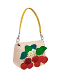 Кожаная сумка №29, Вишенки