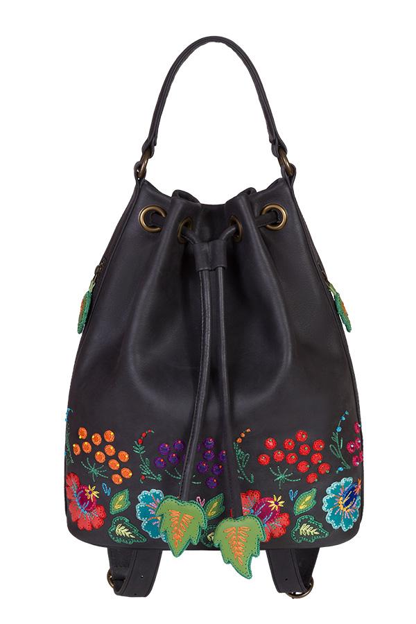 a1892898f37d кожаный женский рюкзак-сумка м.49 Петриковская роспись | Кожаные ...