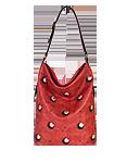 сумка кожаная красная м.53