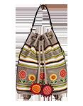 Кожаный женский рюкзак-сумка м.49