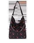 кожаная сумка черная  м53