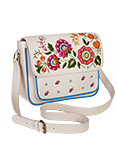 Кожаная женская сумка кремовая №54